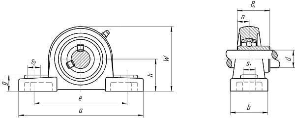 Корпусные шариковые подшипники со сферической поверхностью наружного кольца серии uc200 и uc300