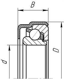 Подшипники шариковые радиально-упорные однорядные специальной конструкции
