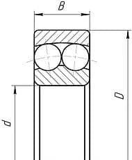 Подшипники шариковые радиальные сферические двухрядные с цилиндрическим отверстием внутреннего кольца