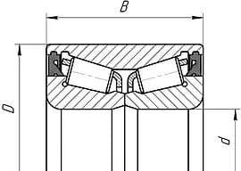 Подшипники конические роликовые двухрядные с уплотнениями
