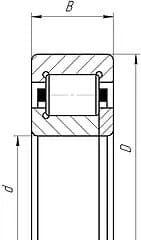Подшипники цилиндрические роликовые с двумя бортами на наружном кольце, одним встроенным и одним свободным бортом на внутреннем кольце