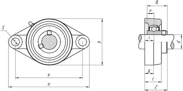 Корпусные подшипниковые узлы серии ucfl200 и ucfl300
