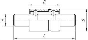 Подшипники шариковые радиальные двухрядные с валом вместо внутреннего кольца